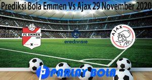 Prediksi Bola Emmen Vs Ajax 29 November 2020